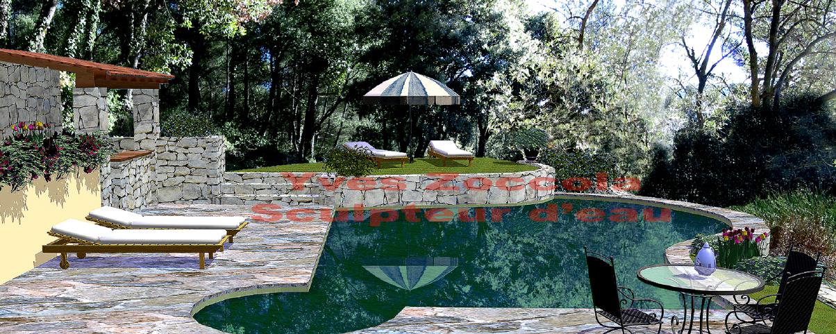 Yves zoccola concepteur de piscine for Piscine miroir avec bac tampon
