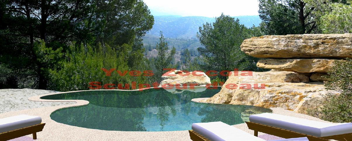 Yves zoccola concepteur de piscine - Revetement piscine pierre naturelle ...
